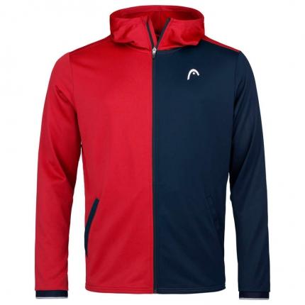 Pánská tenisová mikina Head Breaker Hoodie FZ, red/dark blue