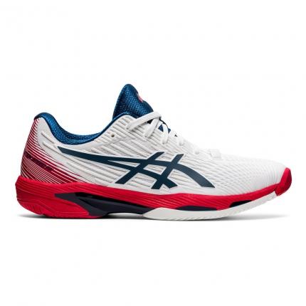 Pánská tenisová obuv Asics Solution Speed FF 2, white/mako blue