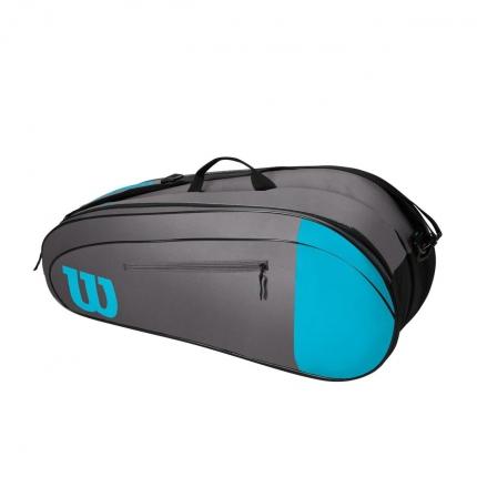 Tenisová taška Wilson Team 6 Pack, blue/grey