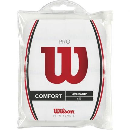 Omotávky Wilson Pro Overgrip 12 ks, white