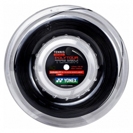 Tenisový výplet Yonex Poly Tour Tough 200m, 1.25 black