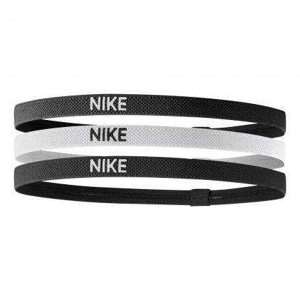 Tenisové čelenky Nike Elastic Hairbands 3er, black/white/black