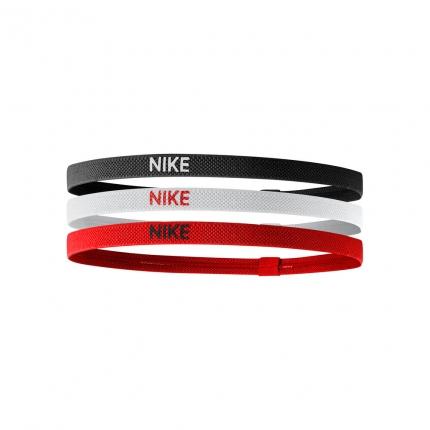 Tenisové čelenky Nike Elastic Hairbands 3er, black/white/university red