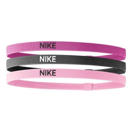 Tenisové čelenky Nike Elastic Hairbands 3er, spark pink/gridiron/prism pink