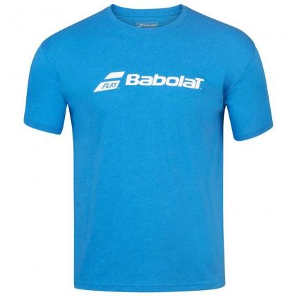 Pánské tenisové tričko Babolat Exercise Tee, blue aster