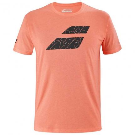 Pánské tenisové tričko Babolat Exercise Big Flag Tee, living coral