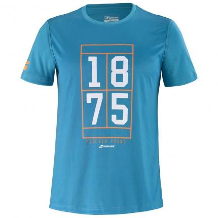 Pánské tenisové tričko Babolat Exercise Graphic Tee, caneel bay