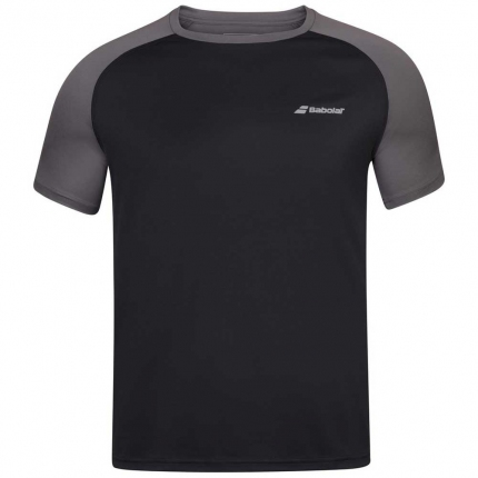 Pánské tenisové tričko Babolat Play Crew Neck Tee, black