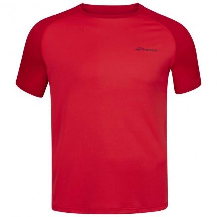 Pánské tenisové tričko Babolat Play Crew Neck Tee, tomato red