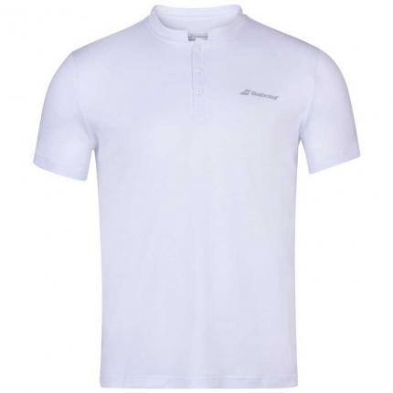 Tenis - Pánské tenisové tričko Babolat Play Polo, white