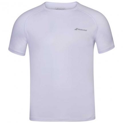 Dětské tenisové tričko Babolat Play Crew Neck Tee, white