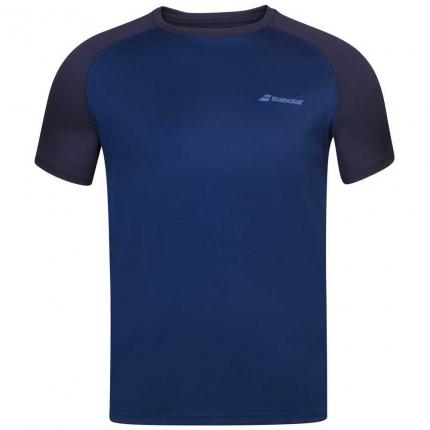 Dětské tenisové tričko Babolat Play Crew Neck Tee, blue