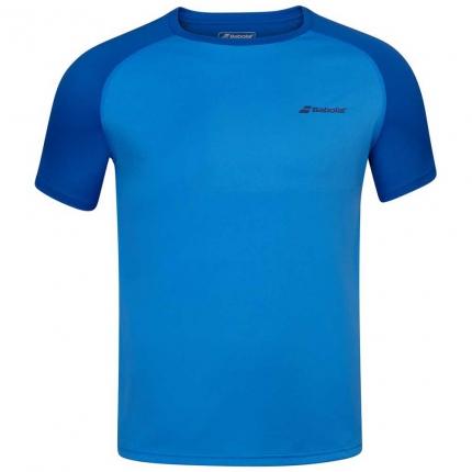 Dětské tenisové tričko Babolat Play Crew Neck Tee, blue aster