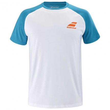 Dětské tenisové tričko Babolat Play Crew Neck Tee, caneel bay
