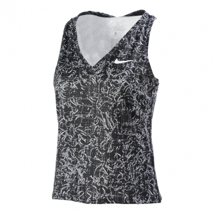 Dámské tenisové tílko Nike Court Victory Print Tank-Top, black