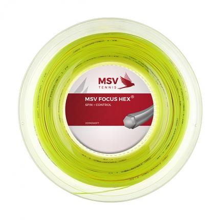 Tenisový výplet MSV Focus Hex 200m, neon yellow