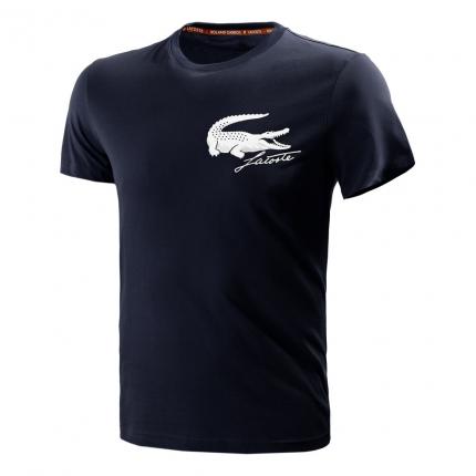 Pánské tenisové tričko Lacoste Logo T-Shirt, navy blue