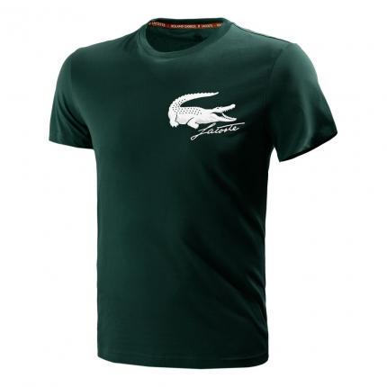 Pánské tenisové tričko Lacoste Logo T-Shirt, bottle green/white