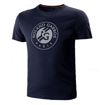 Pánské tenisové tričko Lacoste Logo T-Shirt, navy blue/white