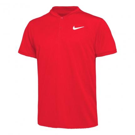 Pánské tenisové tričko Nike Court Dry Blade Polo, university red