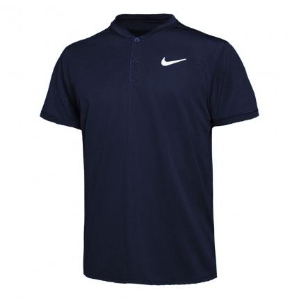 Pánské tenisové tričko Nike Court Dry Blade Polo, obsidian