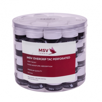 Omotávky MSV Overgrip Tac Perforated 60 ks, white