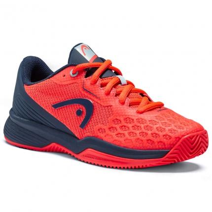 Dětská tenisová obuv Head Revolt Pro 3.5 Clay Junior, neon red/dress blue